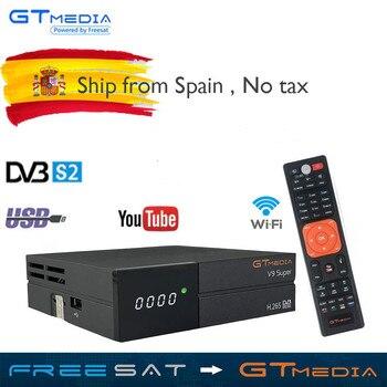 super New GTmedia V9 Super Satellite Receiver Freesat V9 Super Updated GTmedia V8 Nova V8 Super  Europe