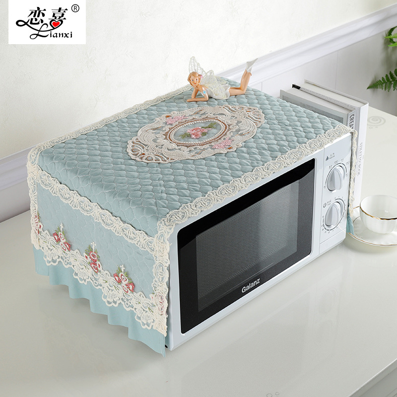Microwave Oven Dust Cover Oil Proof Oven Cover Cloth Cover Towel Kitchen Domestic Microwave Oven Cover