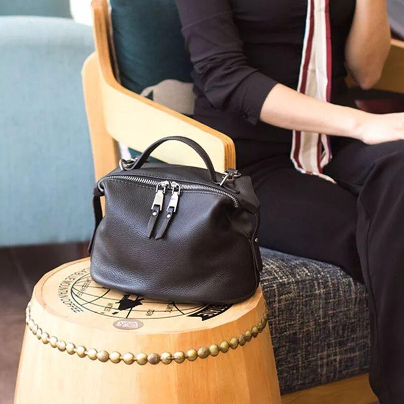 Crossbody-Bags Handbags Designer Purses Messenger Shoulder Hobo Korean-Style Black White