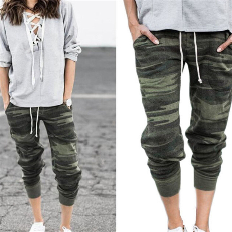 Women Pants Camouflage Trousers Womens Sweatpants Harem Jogger Casual Pocket Ladies Trousers Sexy Women High Waist Pants