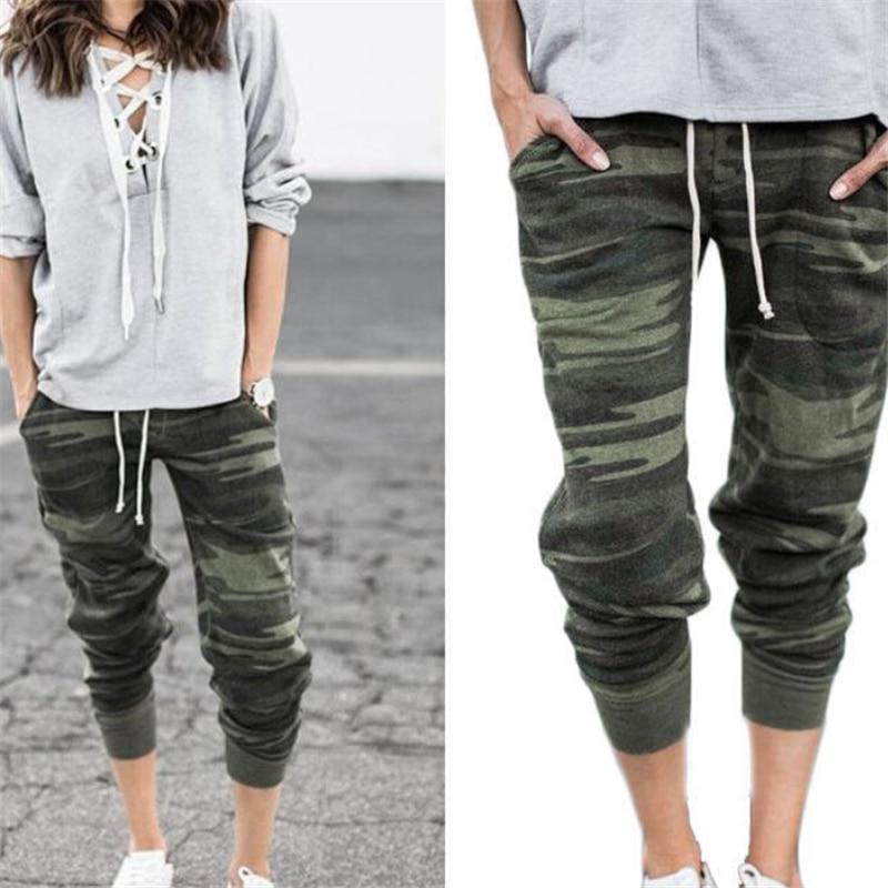 Women Pants Camouflage Trousers Womens Sweatpants Harem Jogger Casual Pocket Ladies Trousers Sexy Women High Waist Pants