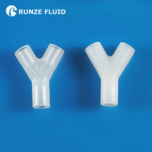 PTFE Y type inner screw equal Tee smooth hose connector tube adapter plastic joint female 1 4 28unf plastic connector y fittings ptfe for hard tube manufacture