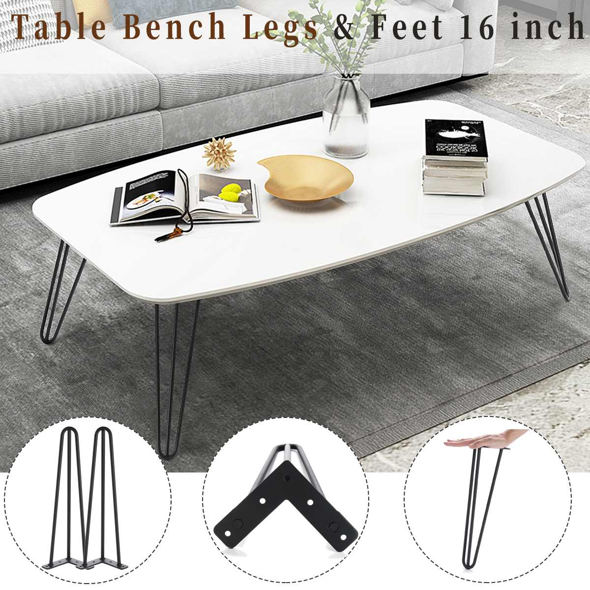 4pcs Metal Table Legs Coffee Tables Bench Iron Hairpin Legs With Floor Mat Table Desk Legs furniture accessories for Home DIY