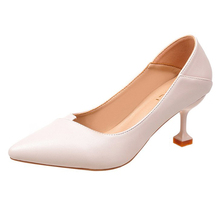 2019 new high heels elegant womens pointed black beige pink 5cm heel quality super confident women shoes