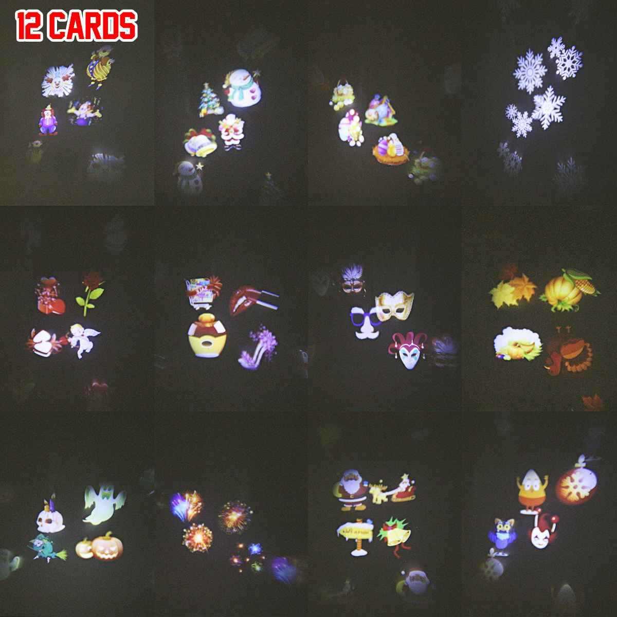 Giardino di Paesaggio della Lampada Del Proiettore di 12/20 Carte Outdoor Park Di Natale Decorazione Festa di Illuminazione Del Proiettore Rimovibile Riflettore