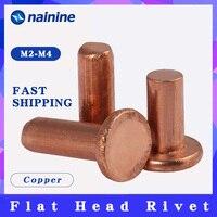 [M2 M2.5 M3 M4 M5 M6] Copper Solid Rivets Knock Flat Head Rivet GB109
