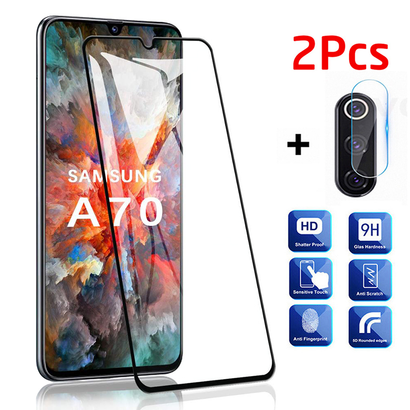 2Pcs Protective Glass On For Samsung Galaxy A70 Camera Glass Protector For Samsung A70 A50 A10 A51 A71 A 70 Safety Film Armor 3D