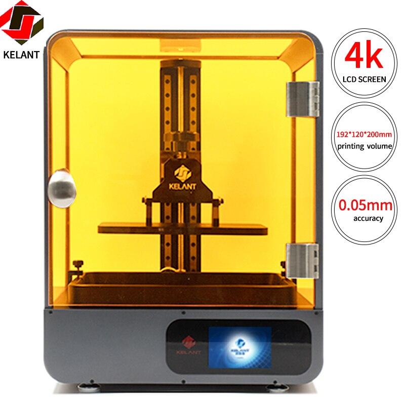 Kelant S500 4K UV Resin 3D Printer 8 9inch LCD Resolution 3840 2400 3d Printers SLA impresora diy kit Upgraded 3d size192 120 200MM