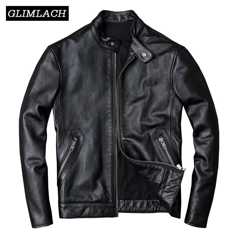 100% Cowhide Jackets Men Large Size 4XL Luxury Genuine Real Cow Leather Jacket Men Motorcycle Black High Quality Slim Short Coat|Genuine Leather Coats|   - AliExpress
