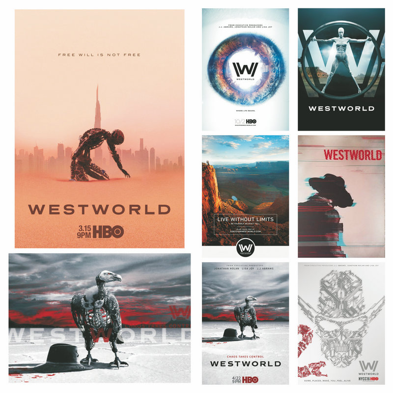 hot sale 2020 american sitcom tv moive poster westworld season 3 bald eagle buzzards vulture canvas painting wall art home decor