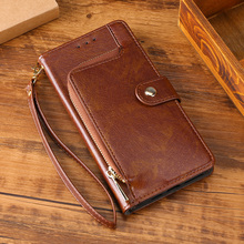 Zipper Wallet Case Leather Cover For Huawei