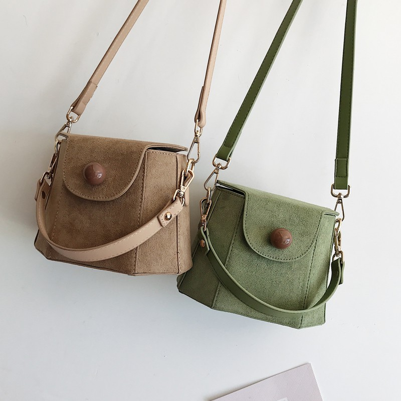 Vintage Matte PU Leather Women Shoulder Bags Designer Beading Famale Handbags Luxury Crossbody Bag Large Buckets Bag Lady Purses