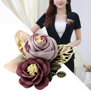 i-Remiel Korean Cloth Art Fabric Flower Brooch Shirt Collar Vintage Pins and Brooches for Women Dress Shirt Collar Accessories