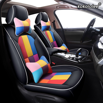 kokololee Custom Leather car seat cover For Chrysler 300C PT Cruiser Grand Voager Sebring Automobiles Seat Covers cars