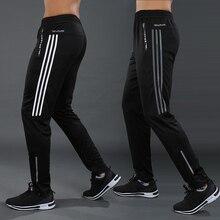 Sport-Pants Soccer-Trousers Joggings Zipper-Pockets Football Training Men Running Plus-Size
