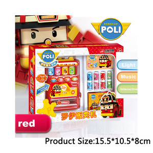 Image 2 - Robocar Poli  Child Toy Drinks Automatic Vending Machine Goods  Pretend Play House Toys Children Girls Furniture for dollhouse