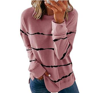 2020 New Autumn Tops 5XL Large Size Women Tie Dye Stripe T Shirt Casual Long Sleeve Oversized Loose Tee Shirt Fashion Ladies Top - style2, M