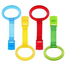 4pcs Baby Pull Rings Portable Baby Stand Up Safety Rings Toddler Walking Assistant (Red/Yellow/Green/Blue)