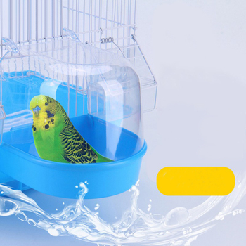 Bird Water Bath Box Bathtub Parrot For Parakeet Plastic Lovebird Bird Pet Cage Hanging Bowl Parakeet Birdbath 5