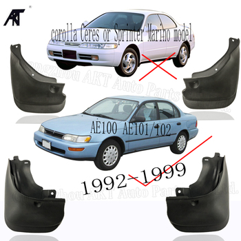 Car Mud Flaps For Toyota Corolla Sedan Saloon AE101 AE102 AE100 1992 - 1999 Mud Flaps Splash Guards Mudguard 1993 1994 1995 image