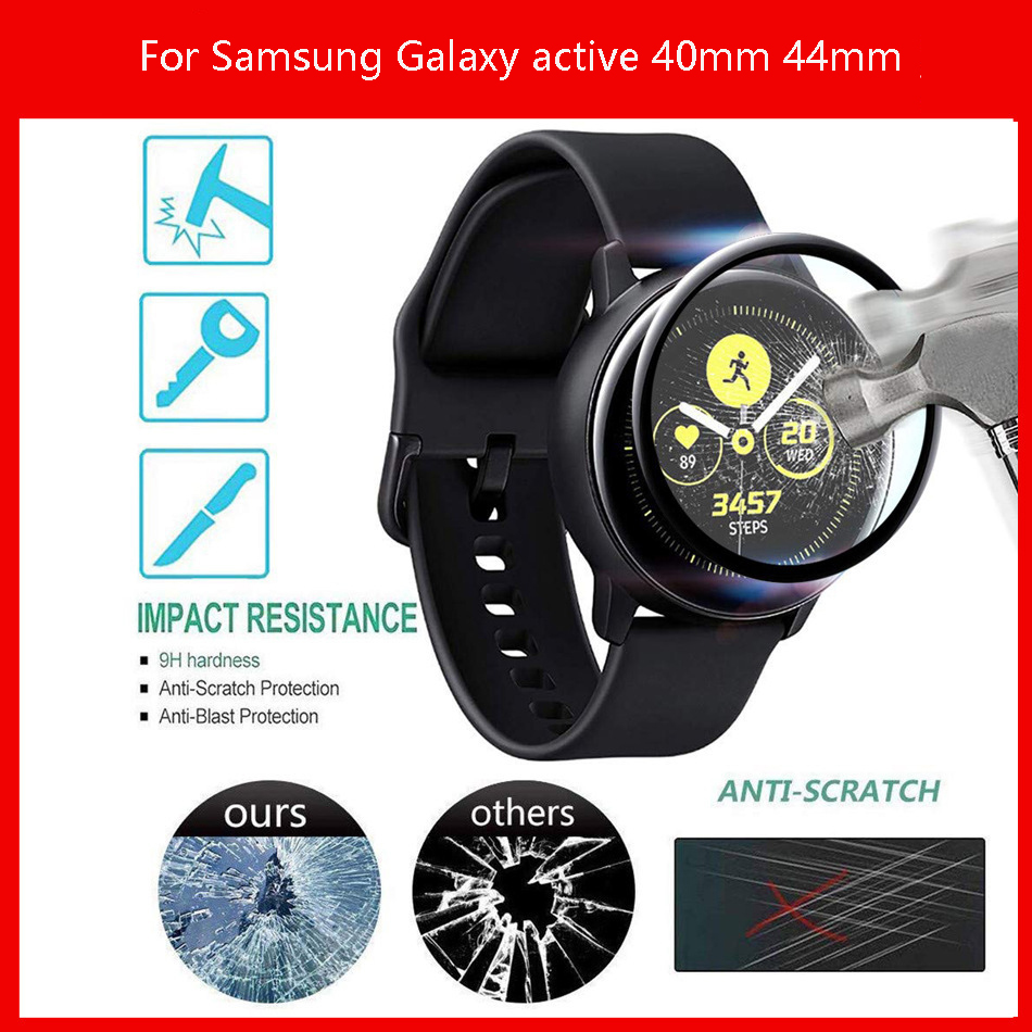 3D Full Tempered Glass Watch Screen protector For Samsung Galaxy Watch Active 2 44mm 40mm/46mm/42mm for active 2 Protective film