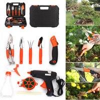 Bonsai Toolbox Stainless Steel Practical Gardener Tools Garden Tool Set Gardening Toolbox Multifunctiona Kit Shovel Rake 9pcs