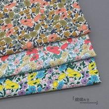 145x50cm pastoral floral algodão popelina costura tecido diy crianças vestindo fazer cama colcha decoração casa pano