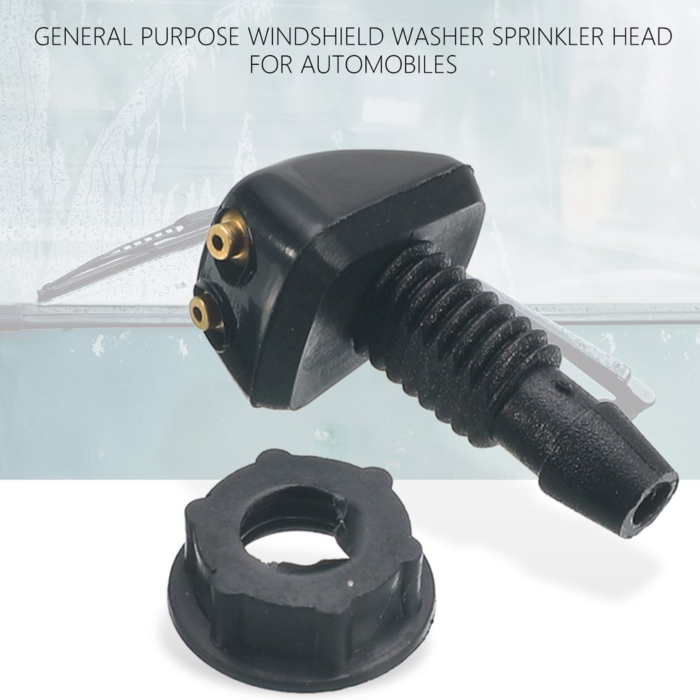 Car Universal Windshield Washer Sprinkler Head Wiper Fan Shaped Spout Cover Water Outlet Nozzle Adjustment 3