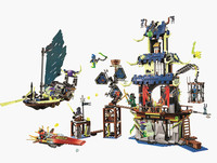 Pieces Ninja City of Stiix Masters Spinjitzu Building Block Compatible Legoed 70732 Bricks Toys for Kids