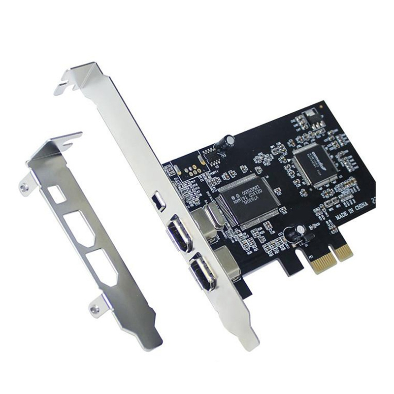 PCI-E PCI Express FireWire Card, IEEE 1394 Controller Card with Firewire Cable, for Video, Audio Transmission,Etc