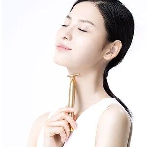 Image 5 - InFace זהב יופי בר זהב מצופה עיסוי ראש אקופרסורה להדק עור עיסוי יבוא IPX7 עמיד למים מקל