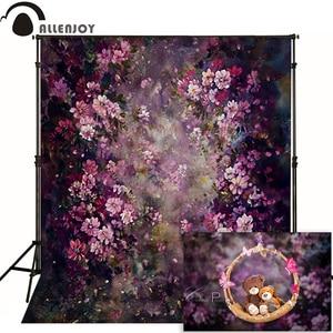 Image 1 - Allenjoy פרח צילום רקע אביב חתונה ציור רקע תמונה סטודיו יילוד תינוק ילד Photophone שיחת וידאו