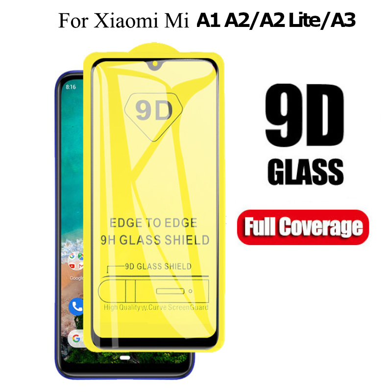9D Full Cover Tempered <font><b>Glass</b></font> for <font><b>Xiaomi</b></font> Mi A3 Mi A2 Lite <font><b>MiA1</b></font> MIA3 MIA2 Lite Screen Protector Mi A 1 2 3 Lite Protective <font><b>Glass</b></font> image