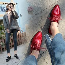 Chic Single Shoes Women's British College Style Fashion Retro Pointed Single Shoes Korean Version Of The Wild Lace Ins Shoes цена 2017