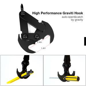 Image 5 - Stainless Steel Survival Folding Grappling Hook Outdoor Climbing Claw Accessories Gravity Hook Key Chain Car Traction Rescue EDC