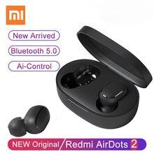 Darmowa wysyłka oryginalny Redmi Airdots S Xiaomi słuchawki Bluetooth AI sterowania zestaw słuchawkowy do gier Xiaomi Redmi Airdots 2