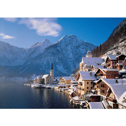 2000-piece adult jigsaw puzzle Austrian Harsch lake puzzle home painting puzzle decompression toy gift