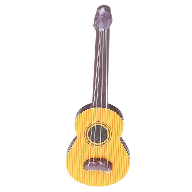 1 шт мини красивая гитара аксессуары для кукол в миниатюре части инструмента для домашнего декора детская деревянная мебель ремесла
