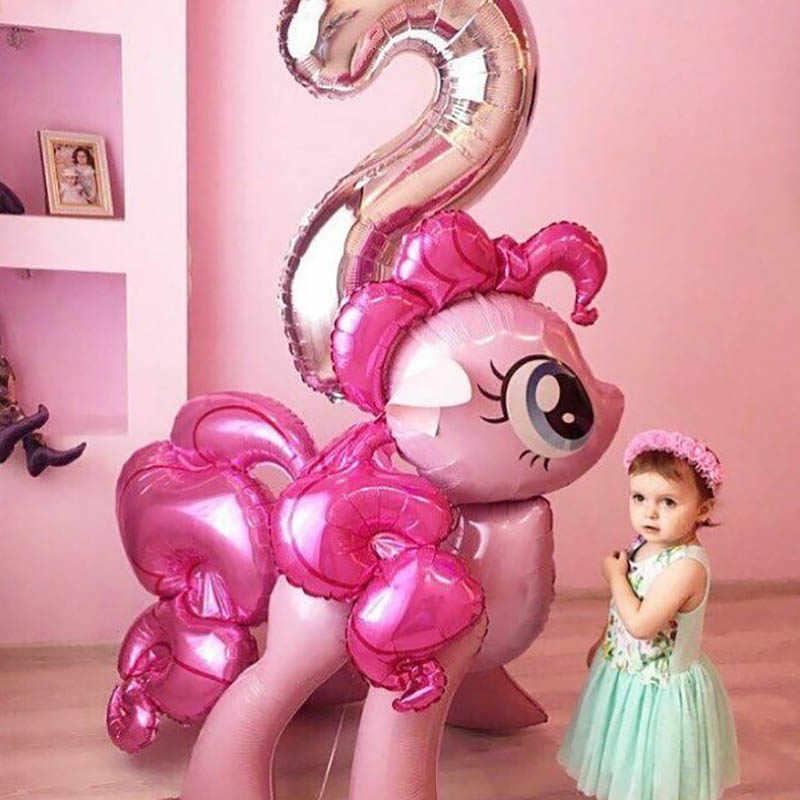 1 قطعة بلدي ليتل المهر احباط بالونات كبيرة الحجم يونيكورن ديكور حفلات الاطفال لعبة فتاة عيد ميلاد ديكور حفلات هدايا