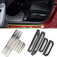 DAEFAR High quality Stainless Steel Door Sill Scuff Plate Trim Car Accessories For Honda Vezel HR V HRV 2014 2018