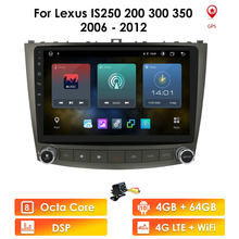 Rádio do carro android 10.0 10.1 player player leitor de dvd para lexus is250 is300 is200 is220 is350 2005-2012 unidade principal estereofônica 2 din gps nav 4g lte