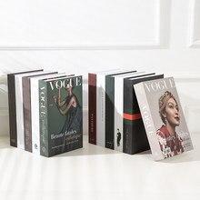 Faux livres décoratifs de luxe, boîte à livres à la mode, décorations de salle d'étude, accessoires de noël, café, modèle de livre