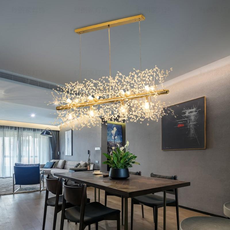 Floco de neve lustre estilo nórdico lâmpada personalidade criativa modelo cristal atmosfera luz luxo sala estar iluminação