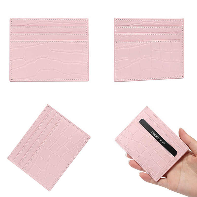 ミニ女性財布 Rfid ワニのパターン本革薄型スリムショートクラッチバッグマルチスロットカードホルダー女性コイン財布