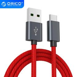 ORICO 5A Fast Charging Type C Cable  Data Sync Braided Wire Charging Cable for Huawei P9 Macbook LG G5 Xiaomi Mi 5 Huawei P20