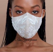 Baziingaa três-camada máscara de pano de renda máscara para noivas acessórios de casamento máscaras adequadas para noivas máscaras de casamento