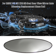 For BMW E46 M3 E39 M5 Oval Rear View Mirror Auto Dimming Replacement Glass Cell