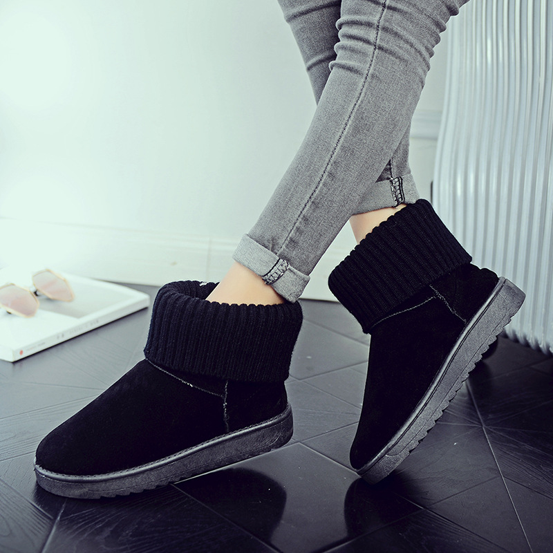 Women's new snow boots winter fashion wild classic women's shoes simple warm non-slip waterproof wool shoes ladies ankle boots 76