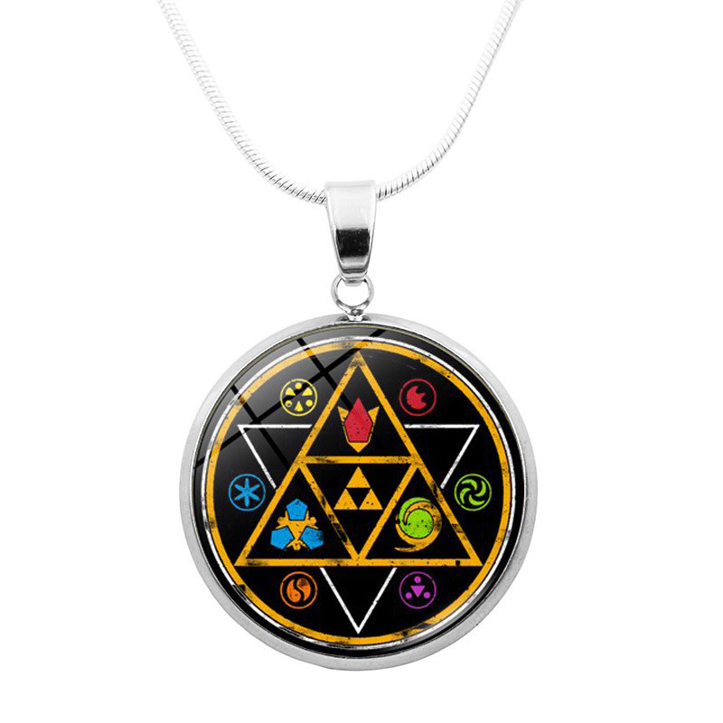 new game Anime The Legend of Zelda Skyward Sword cosplay Character props high quality metal element necklace Pendant Accessories image