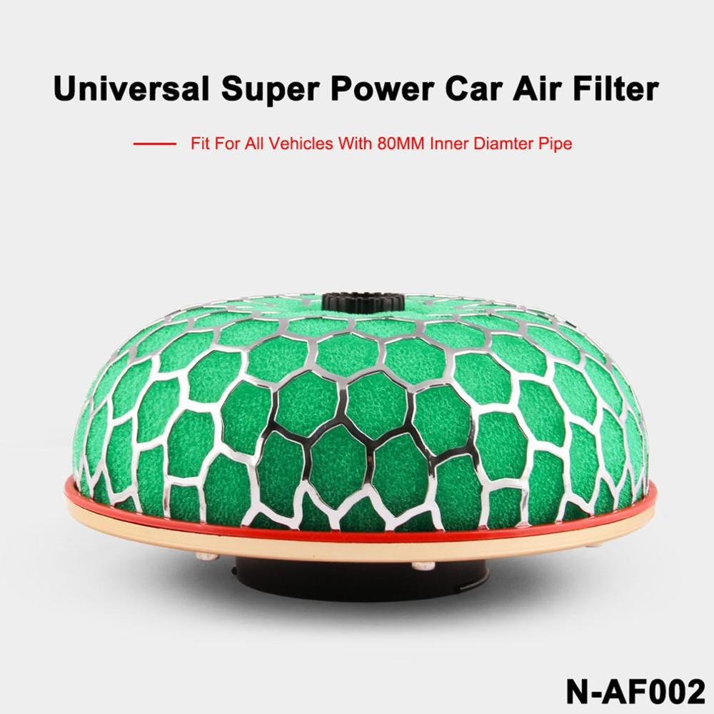 Universal Air Filter 80mm/100mm Mushroom Head Universal Racing Car Air Filter Flow Air Intake System Reloaded Cleaner
